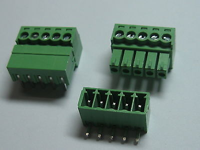 12 pcs Screw Terminal Block Connector 3.5mm Angle 5 pin/way Green Pluggable Type 5 set orange 8 pin 3 96mm single row screw pluggable terminal block right angle connector 300v 10a