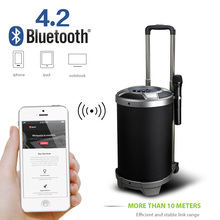 80CM height bluetooth Subwoofer With Mic Super Bass Party Speaker outdoor trolley speaker dancing