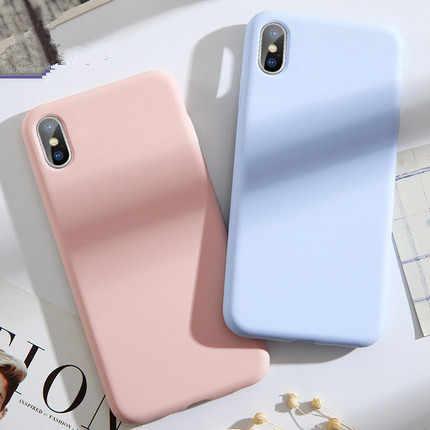 Étuis pour iPhone iPhone 7 en Silicone souple pour iPhone 8 Plus étui en TPU pour iPhone6 S X XS Max étui Fundas 360 couverture complète