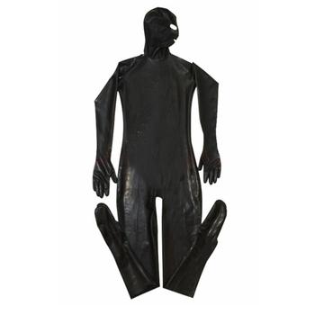 XXL Erotic Leotard Gay Men Sexy Fetish Latex Nightclub Catsuit PVC Costumes Prisoner Cosplay Body Suit Black Leather jumpsuit