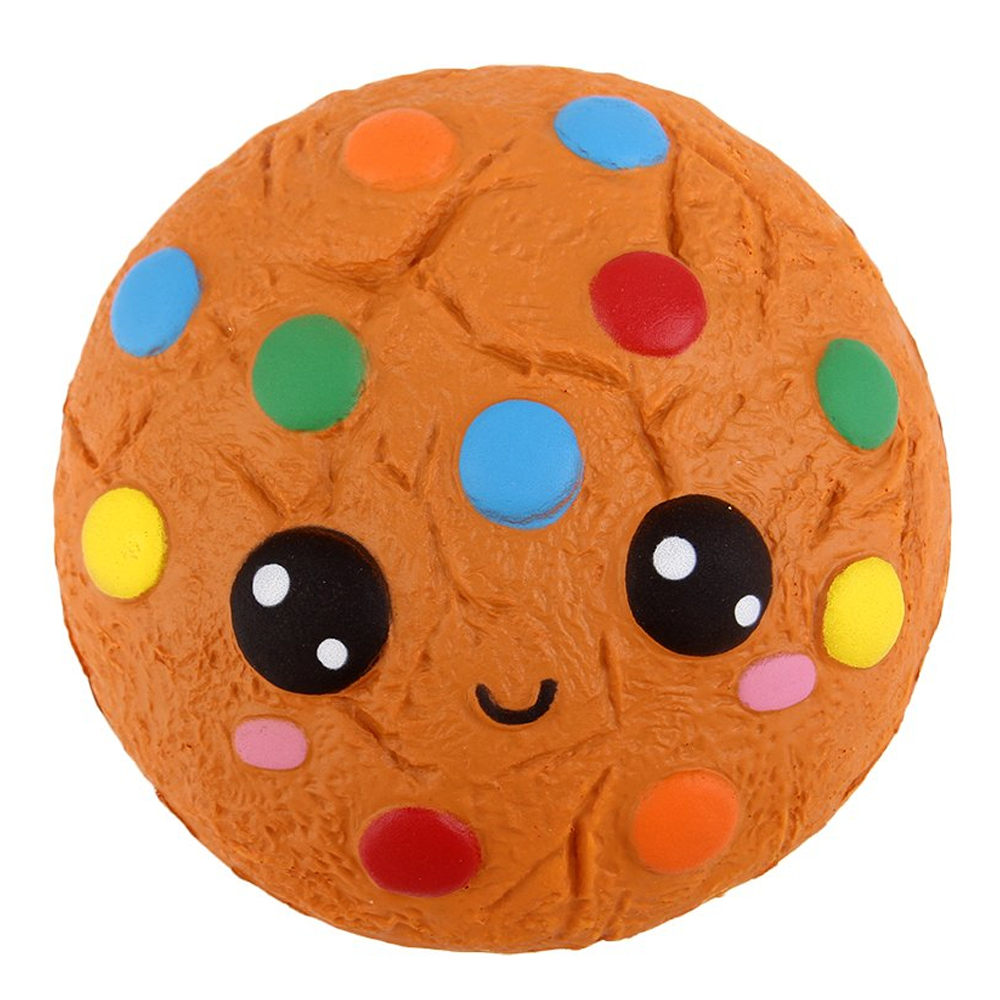New Kawaii Colorful Chocolate Bread Squishy Cake Scented Creative Slow Rising Soft Squeeze Toy Stress Relief Fun For Kid Gift