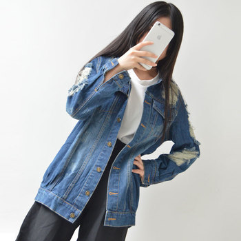 Women Blouse Spring Autumn Long Sleeve Casual Female Jeans Women denim jacket