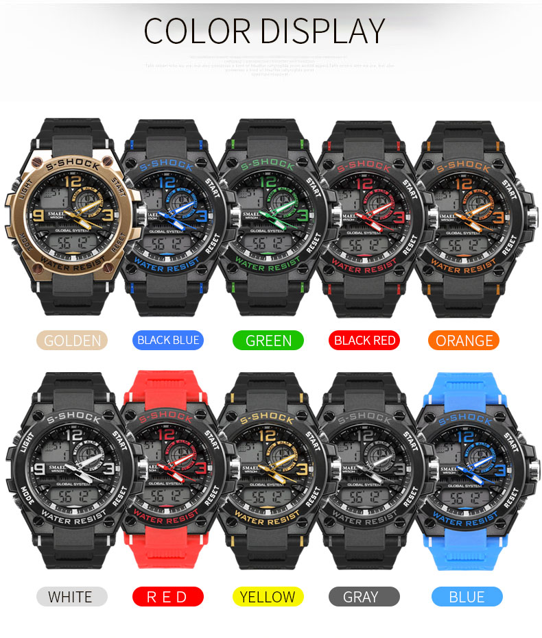 4.digital men`s wristwatches military