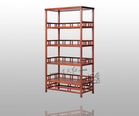 Хранения древесины книжный шкаф китайский классический ретро Книга стойки палисандр Редвуд полочный домашний мебели, офисный шкаф шкафчик