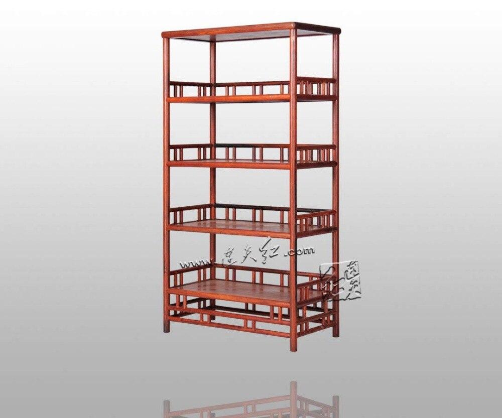 De stockage de Bibliothèque En Bois Chinois classique Rétro Livre Stand Rack Rosewood Redwood Étagère Meubles de Maison Armoire de Bureau Casier ensemble