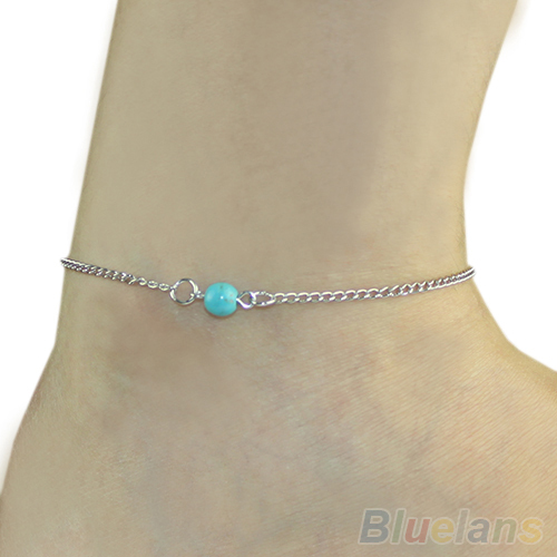 Hot Women fashion Bohemian Bead infinity Charm Chain Anklet Bracelet Beach Sandal Barefoot Jewelry Foot 1FXC