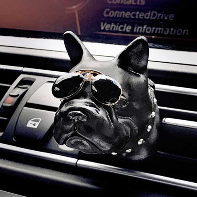 Car Air Fresher PVC Bulldog Auto Smell Perfume Clip Automotive Internal Vent Fragrance Scent Odor Diffuser Flavoring In The Car