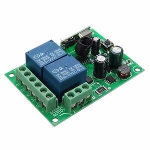 Image 3 - LEORY Control remoto por radiofrecuencia, interruptor de 2 canales cc 12V 220/315 MHz, Relé inalámbrico, 433 V, venta al por mayor