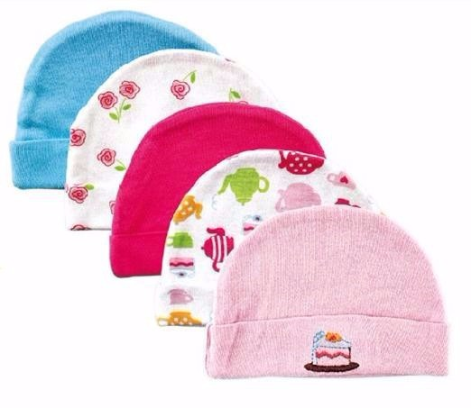 5pcslot Baby Hats PinkBlue Cartoon Pattern Baby Hats & Caps for Newborn Baby Accessories (4)