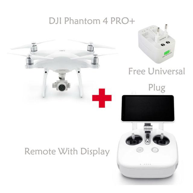 100% original dji phantom 4 pro + drone (con 5 pulgadas de pantalla) rc helicóptero de envío libre vía el ccsme