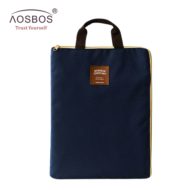 de9ff6982a72 US $3.68 20% OFF|A4 Oxford File Folder Bag Men Portable Office Supplies  Organizer Bags Casual Ladies Tote Document Handbag for Women-in Top-Handle  ...