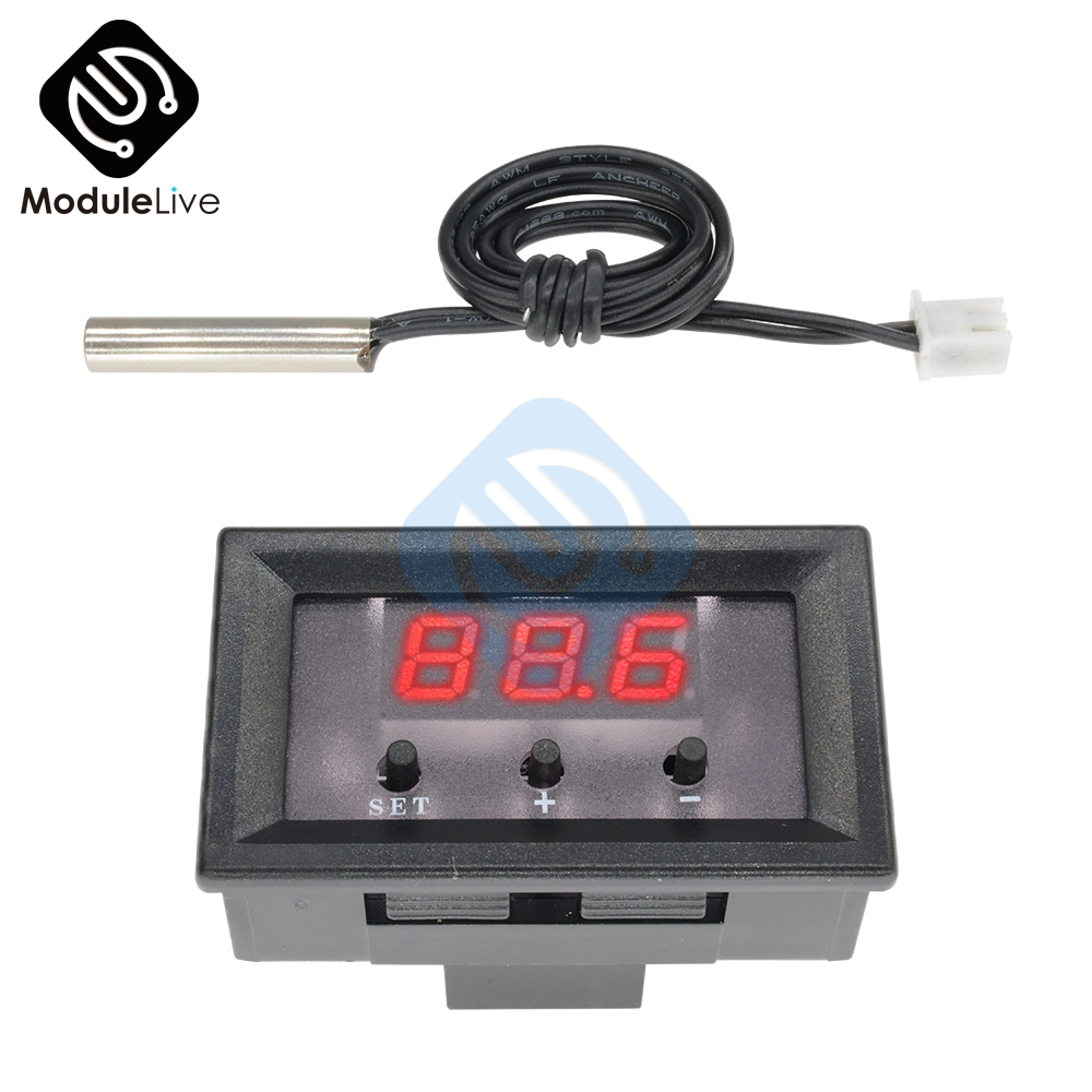 DC 12V Red Digital Thermostat Temperature Meter Controller Switch Sensor Module