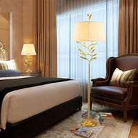 LED Post Modern full copper Floor Lamp gold body Living room Bedroom Art Decoration table Light Minimalism standing lamp