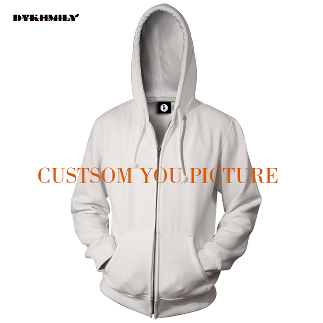Dykhmily Custom Your Design Zipper Hoodies Sweatshirt 3d Full Print Cloth  Fashion Men Hoodies Zip Up Sweatsrhit hood 9ba9e7581a22