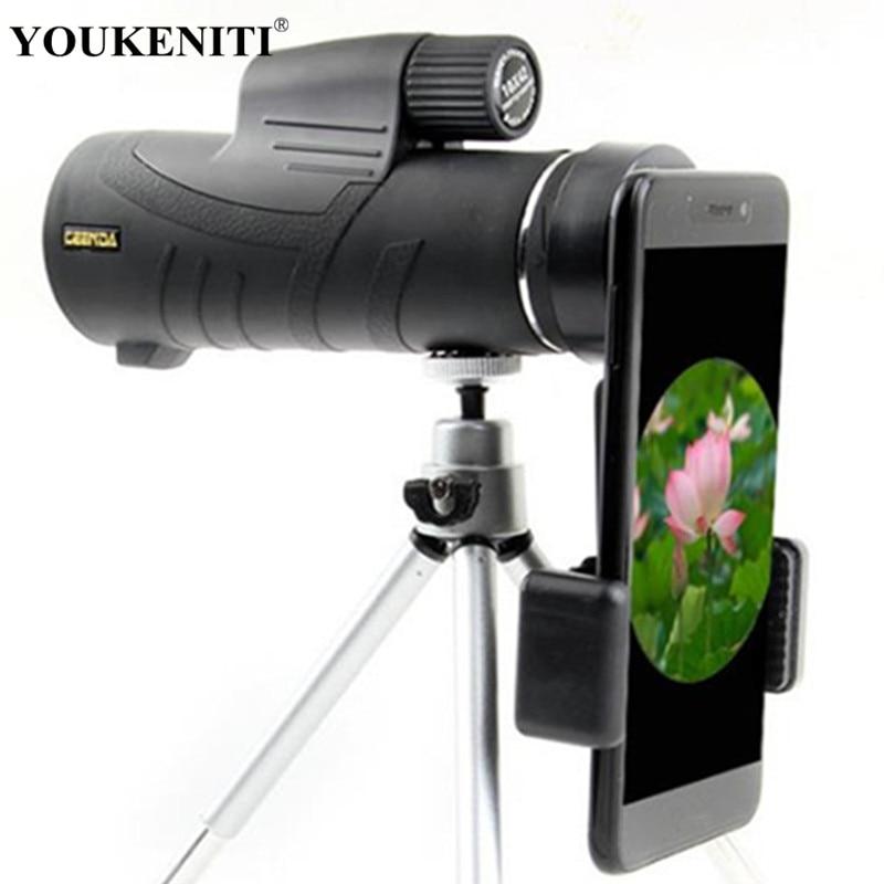 Monocular 10X42 Zoom Telescope Professional high powered Pocket Hunting Optical Prism Scope tripod