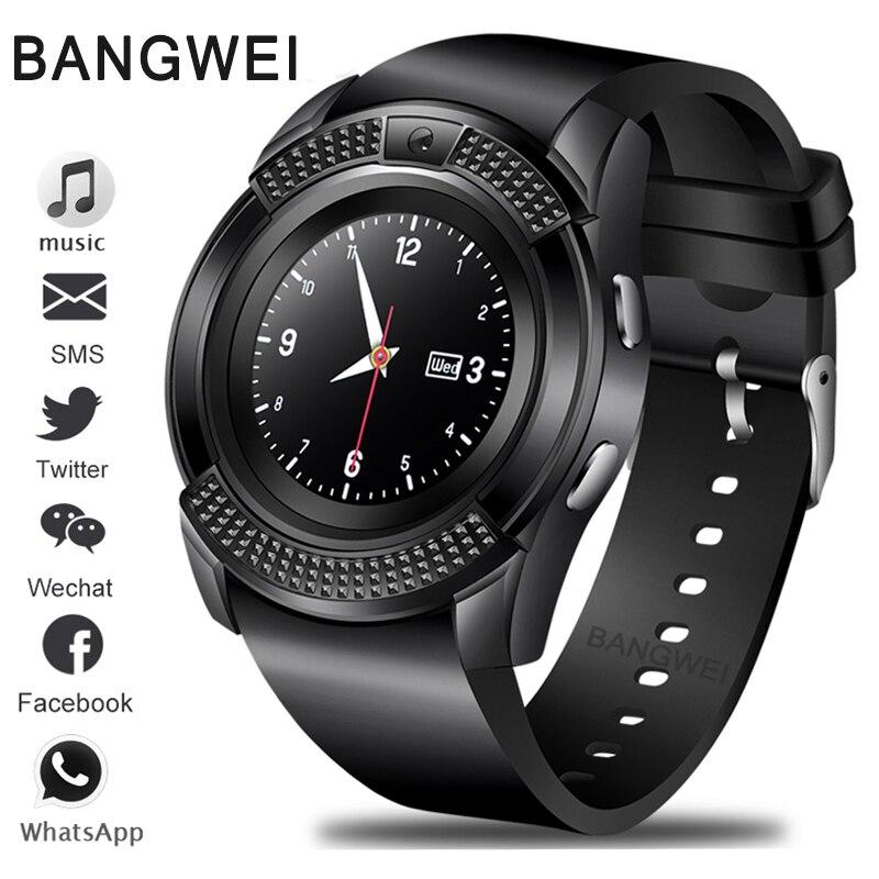 BANGWEI New Smart Digital Watch Information Vibration Reminder Sport Pedometer Clock LED Color Screen Bluetooth Smart Watch Men