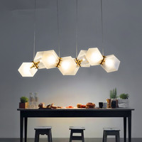 Modern Pendant Lights Wells Frosted Glass DNA Led Pendant Lamps Nordic Luxury Living Room Dining Room Hanging Lights Fixtures