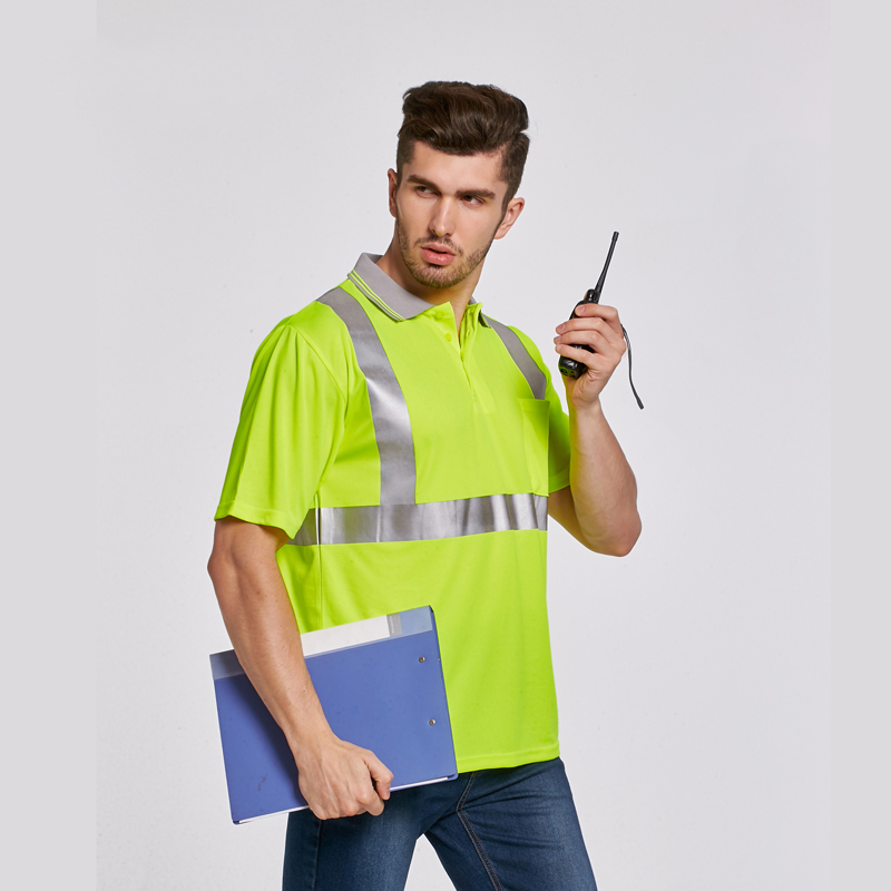 Reflective security workwear work clothes t shirt tshirt men high quality breathable fabric with short sleeves for construction santa dxman short sleeves t shirt for men