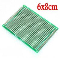 Hot sale10pcs PCB Double Side Prototype PCB diy Universal Printed Circuit Board 6*8cm
