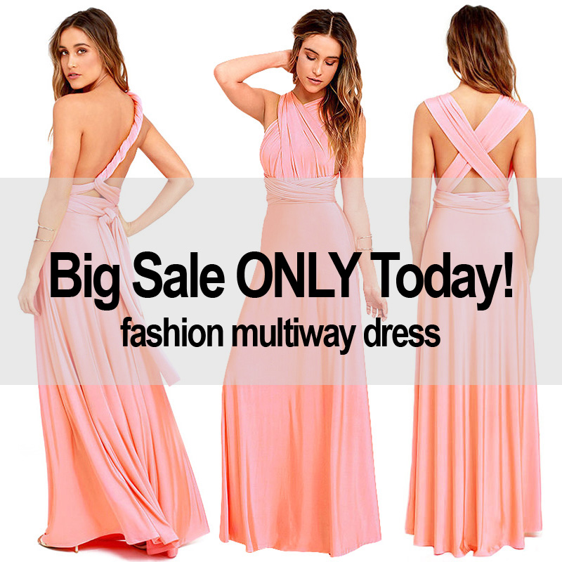 63713c7302d4 Sexy Women Multiway Wrap Convertible Boho Maxi Club Red Dress Bandage Long  Dress Party Bridesmaids Infinity Robe Longue Femme-in Dresses from Women s  ...