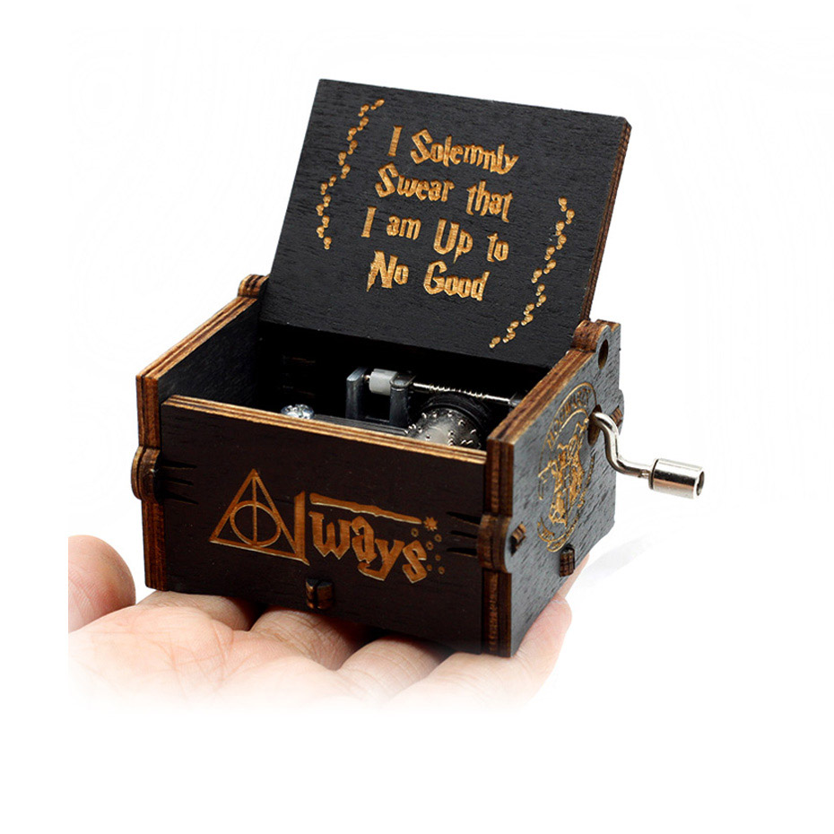 Античный резной ручной коленчатый Деревянный музыкальная шкатулка легенда о Зельде замок в небо пусть Le Go День рождения Рождественский подарок - Цвет: H