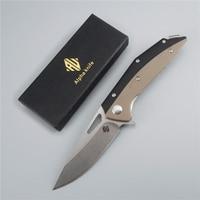 2019 Tai Chi Yin Yang D2 steel blade folding single knife pocket sharp 60 hrc g10 handle army camping outdoor survival knife