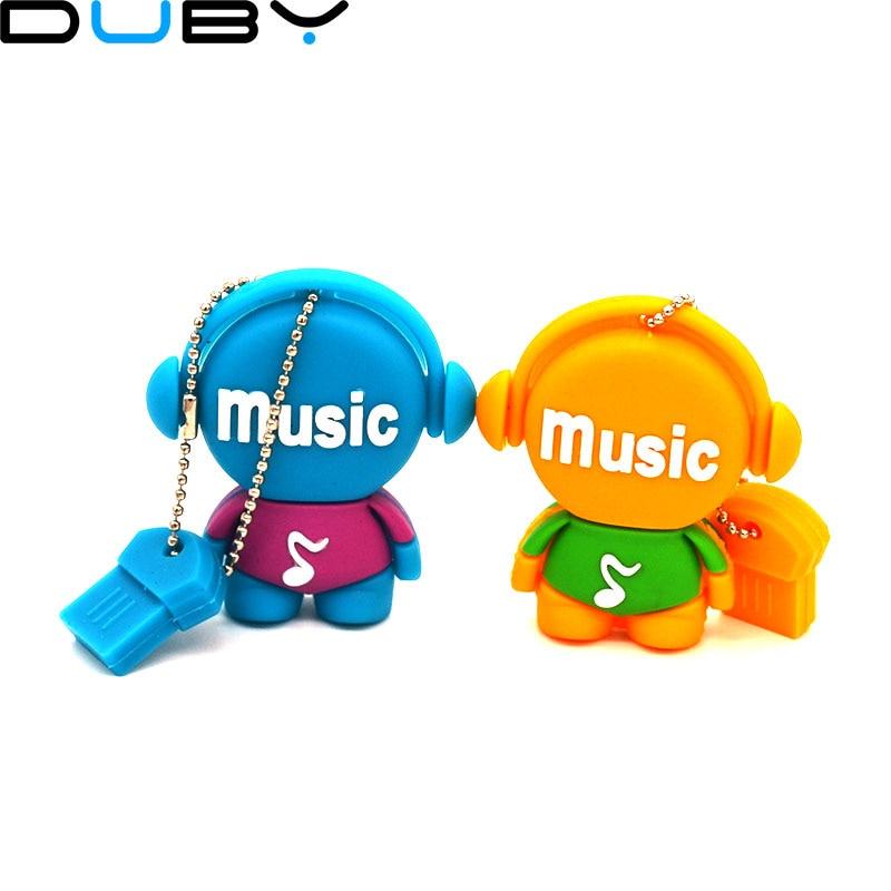 pen drive cartoon music man 2gb/4gb/8gb/16gb/32gb/64gb bulk Musician usb flash drive flash memory stick pendrive gift