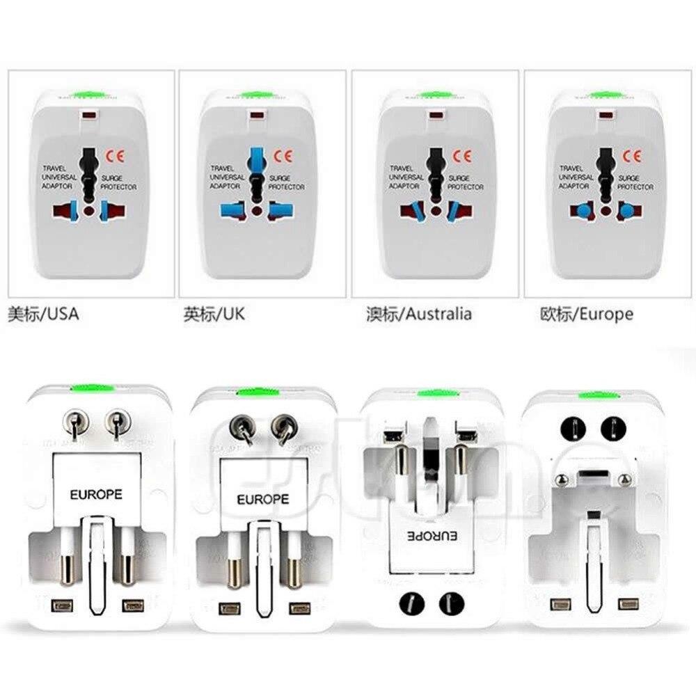 New EU AU UK US To Universal World Adapter Socket Convertor Travel AC Power Plug