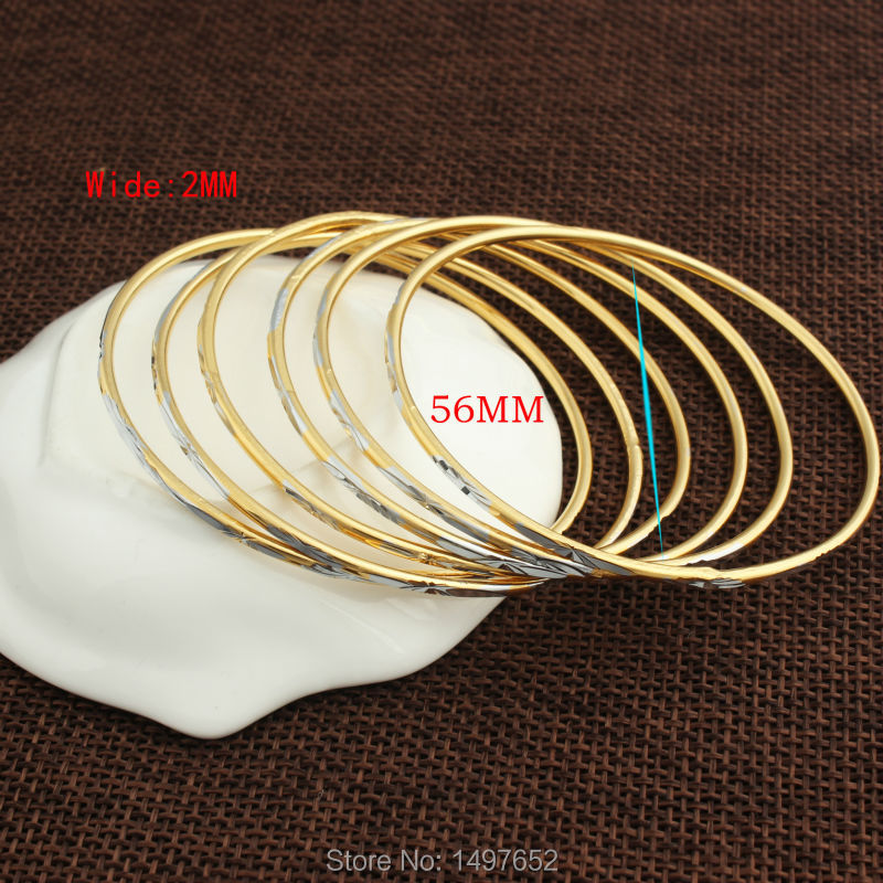 New Arrival Dubai gold BABY Bangle18k Gold/Silver plated Wide 2MM Bracelet African/European Girls/Boys Best Gifts