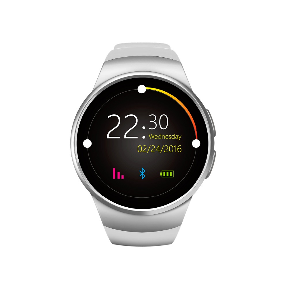 Smartch KW18 Smartwatch NFC Heart Rate Monitor Smart Watch For Apple Samsung Android Pedometer health full round MTK2502 PK DZ09