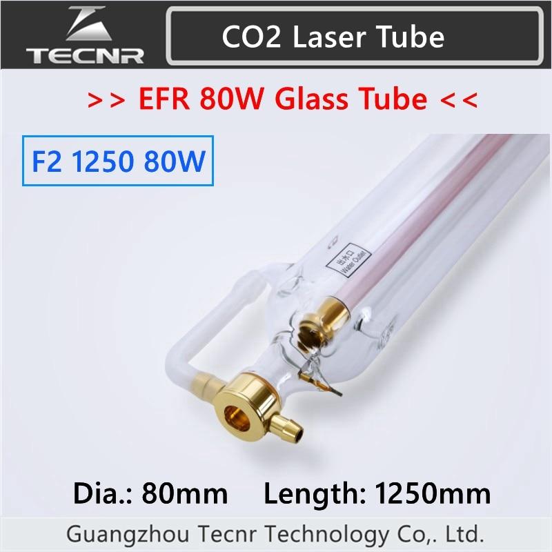 EFR F2 80W CO2 glas laser rohr 80mm durchmesser 1250MM länge für CO2 laser gravur maschine