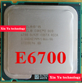 Lifetime warranty Core 2 Duo E6700 2.66GHz 4M 1066 Dual Core desktop processors CPU Socket LGA 775 pin Computer