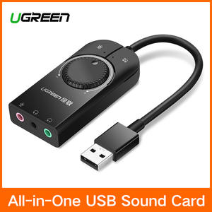 Ugreen 3.5mm USB Adapter for Computer Sound Card USB to Earphone Headphone Audio