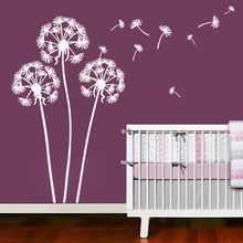 Home Living Room Decor Flying Dandelion Plant Wall Decal Kids Room Wall Art Mural DIY Creative Dandelions Wall Sticker AZ071 plant wall decal