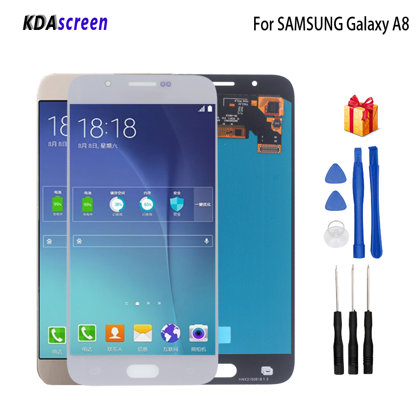 AMOLED For <font><b>SAMSUNG</b></font> <font><b>Galaxy</b></font> <font><b>A8</b></font> <font><b>LCD</b></font> <font><b>Display</b></font> <font><b>Touch</b></font> <font><b>Screen</b></font> Digitizer A8000 A800 A800F Replacement <font><b>Display</b></font> Phone Parts <font><b>LCD</b></font> Free Tools image