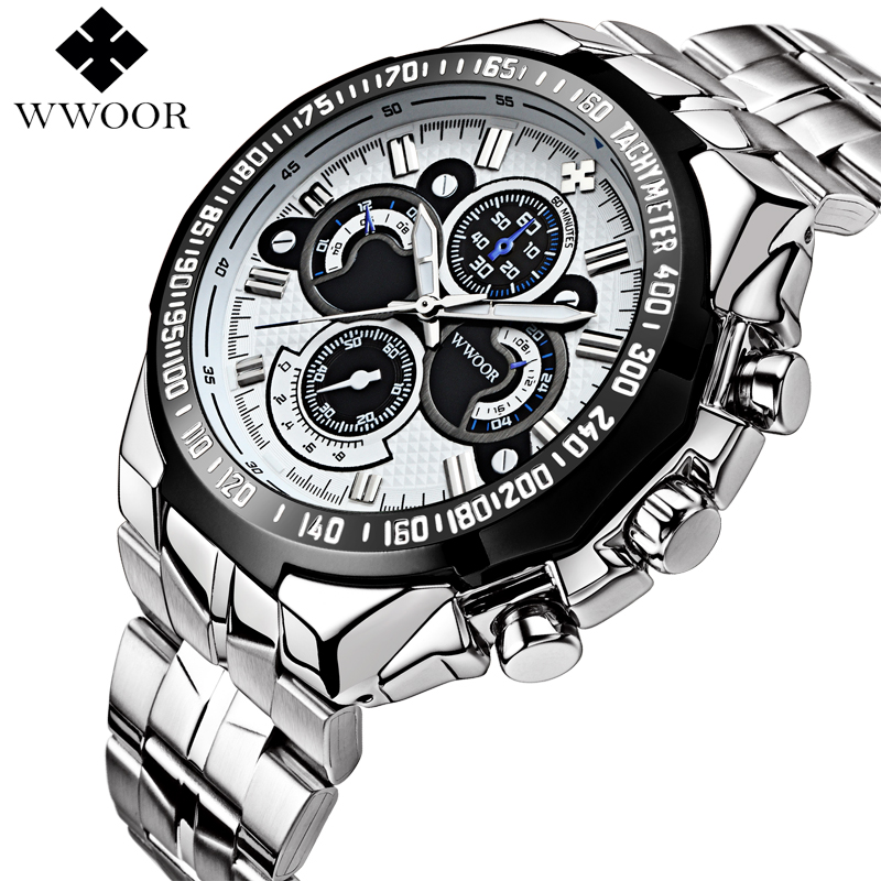 Top Brand Luxury Mens Quartz Watch Men Waterproof Casual Sports Watches Male Silver Stainless Steel Wristwatch relogio masculino skone business watches men luxury brand waterproof quartz watch male stainless steel casual wristwatch man relogio masculino