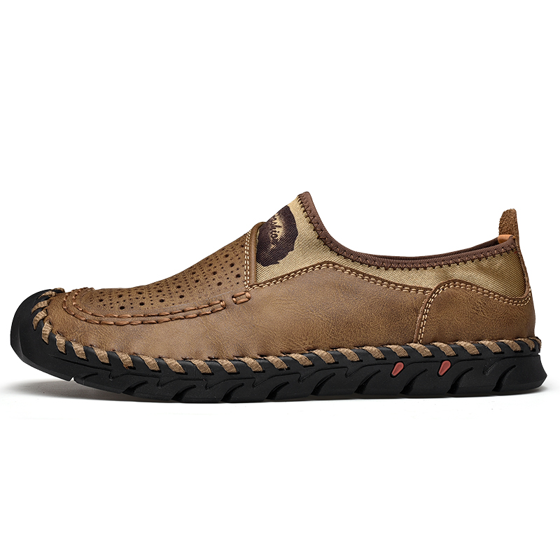 Super Comfort Summer Men Shoes Genuine Leather Men Loafers Hollow Breathable Casual Shoes Men Flats Moccasins Shoes Plus Size in Men 39 s Casual Shoes from Shoes