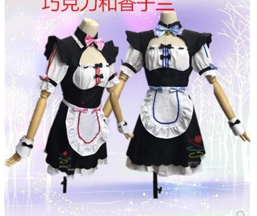 Vanille NEKOPARA Cosplay vanille Chocola femme de chambre Costume OVA femme de chambre uniforme NEKOPARA Cosplay chat Neko fille Costume femmes