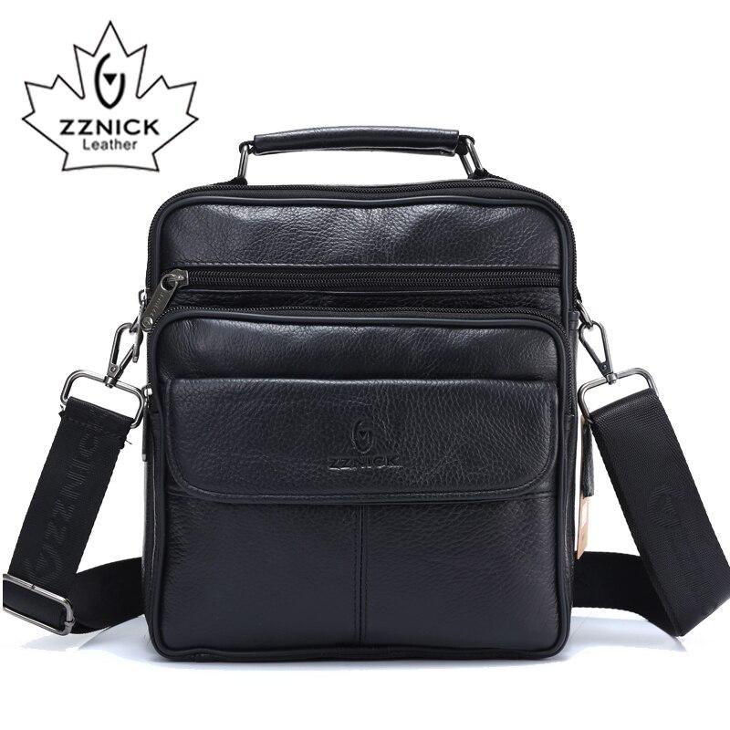 ZZNICK 2018 Fashion Men Messenger Bag Men Leather Shoulder Bag Designer Famous Brand Business Briefcase Crossbody Bag For Men