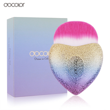 Docolor New Heart Foundation Makeup Brushes Dense Synthetic Hair Cosmetic Tool Colorful Make Up Brush(China)