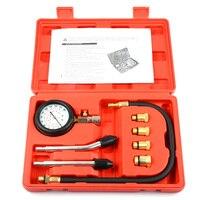 9 PCS Compressor Gauge Meter Test Pressure Compression Tester Petrol Gas Engine Cylinder Leakage Diagnostic Car