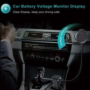 Image 5 - FM الارسال حر اليدين دعوة سيارة المزدوج منافذ USB شاحن سيارة سيارة لاسلكية MP3 لاعب FM المغير دعم TF بطاقة /U القرص