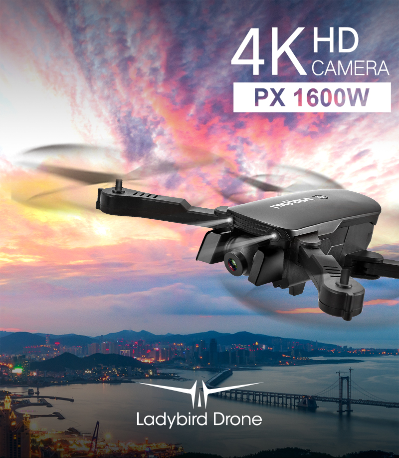 Ladybird R8 Folding Drone With 4K HD Dual Camera and Smart Features