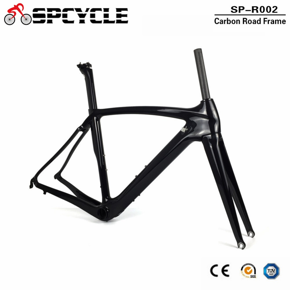 Spcycle 700C Full Carbon Road Bike Frame BB386 Road Bicycle Carbon Frames Fork Seatpost T1000 Carbon Racing Bicycle Frameset on sale ican carbon aero bike frame road racing bicycle frames size 45 48 50 52 54 56 58 60cm china cheap frameset a4