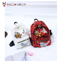 Raged Sheep Sequins PU Women Backpack Embroidery Grils Shool Backpack Female School Shoulder Bags Teenage Girls