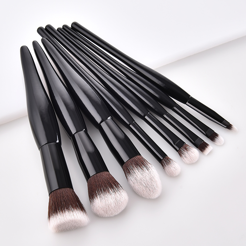 8 Pcs Makeup Brush Set White Black Small Pregnant Belly