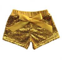 Violet Or Vert Halloween Paillettes Shorts Bébé Filles Étincelle Pantalon Smash Session Scintillant Concours Anniversaire Tenue Chic