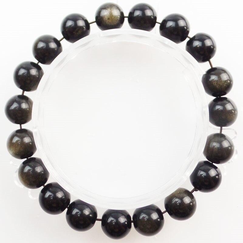 1Strand 8mm Gold Obsidian Round Beads Stretchy Bracelet 7.5 inch SHX1647 (Min.order 10$ mix)