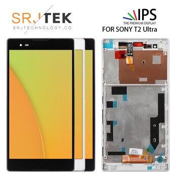Testé 6.0 ''pour SONY Xperia T2 Ultra LCD écran tactile D5322 D5303 D5306 XM50h numériseur avec remplacement de cadre