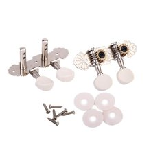 8X Tuning Keys Pegs Machine Heads Tuner 1L + 1R+ 6 Screws+ 4 Washers For Ukulele and Classical Guitar